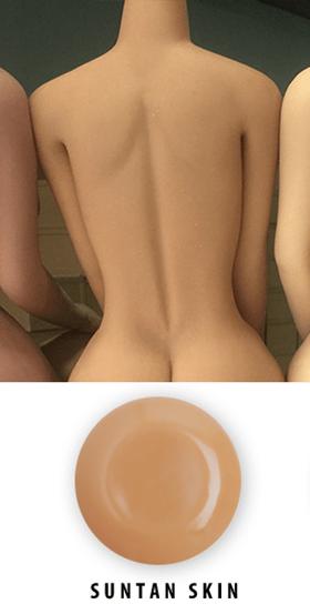 Moyennement bronzée